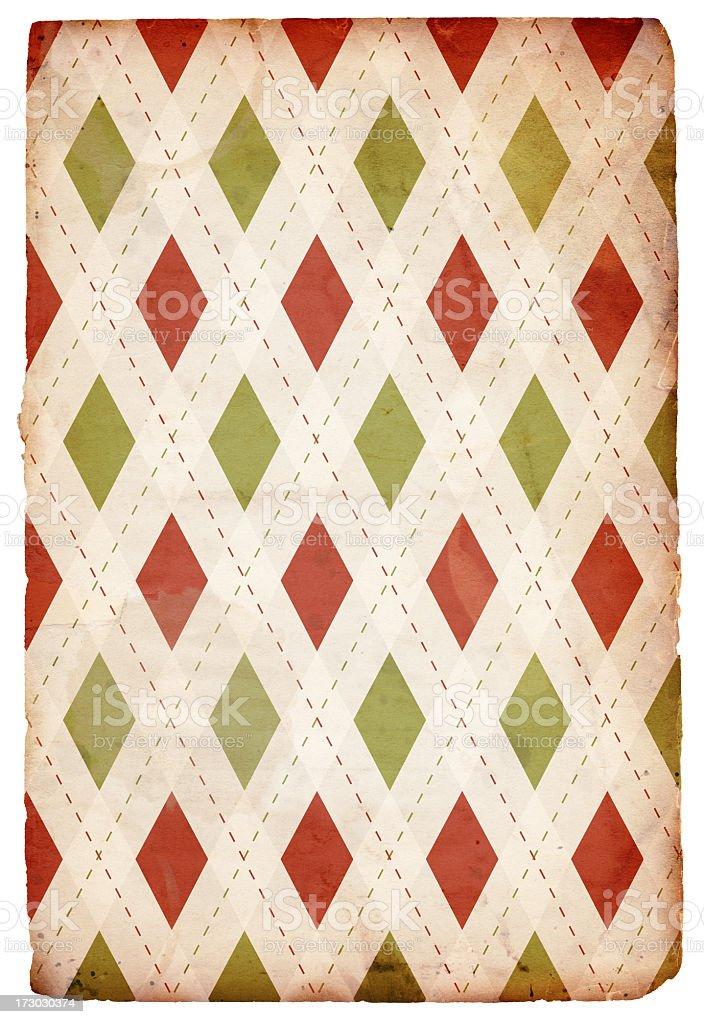 Vintage Christmas Pattern XXXL royalty-free stock photo