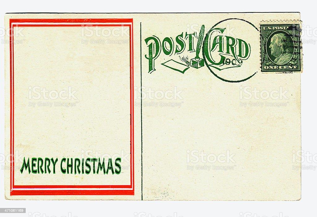 Vintage Christmas Postcard royalty-free stock photo