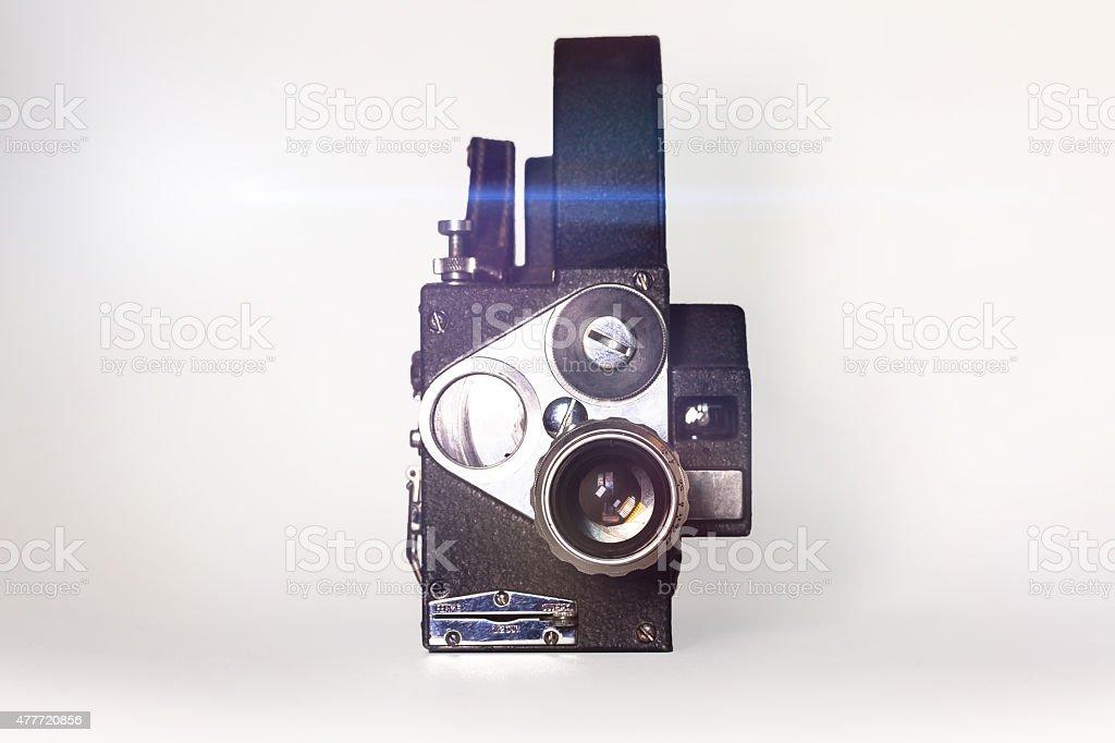 Vintage cinema camera Super 16mm stock photo