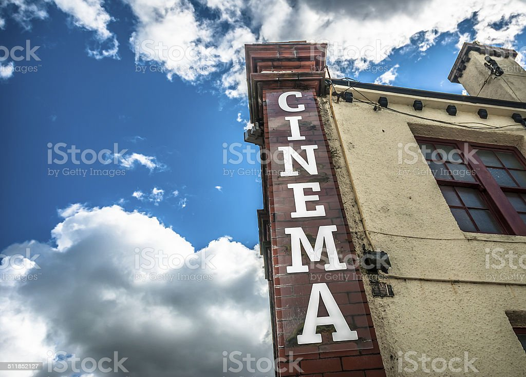 Vintage Cinema stock photo