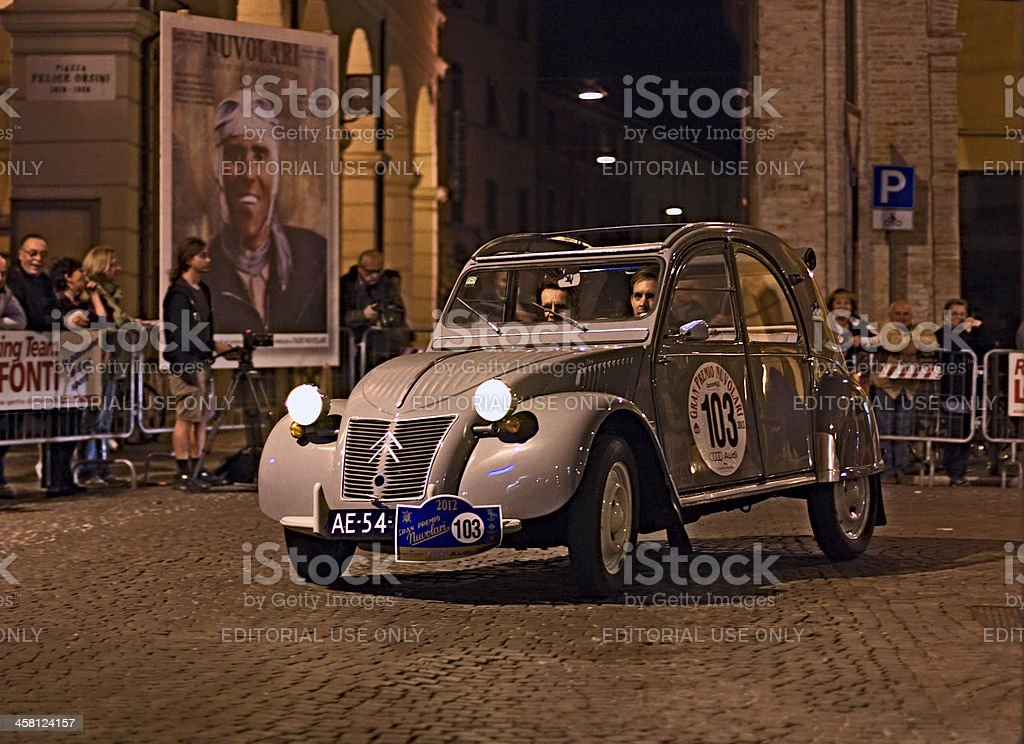 vintage Citroen2CV stock photo