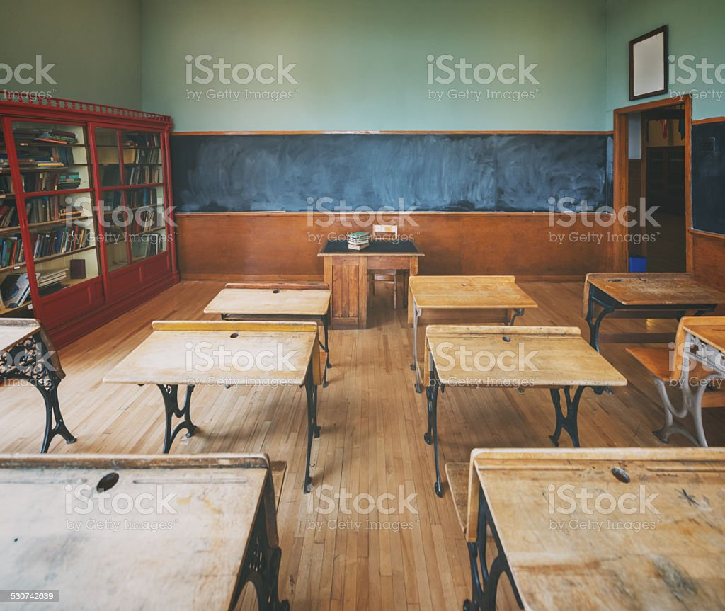 Vintage Classroom stock photo