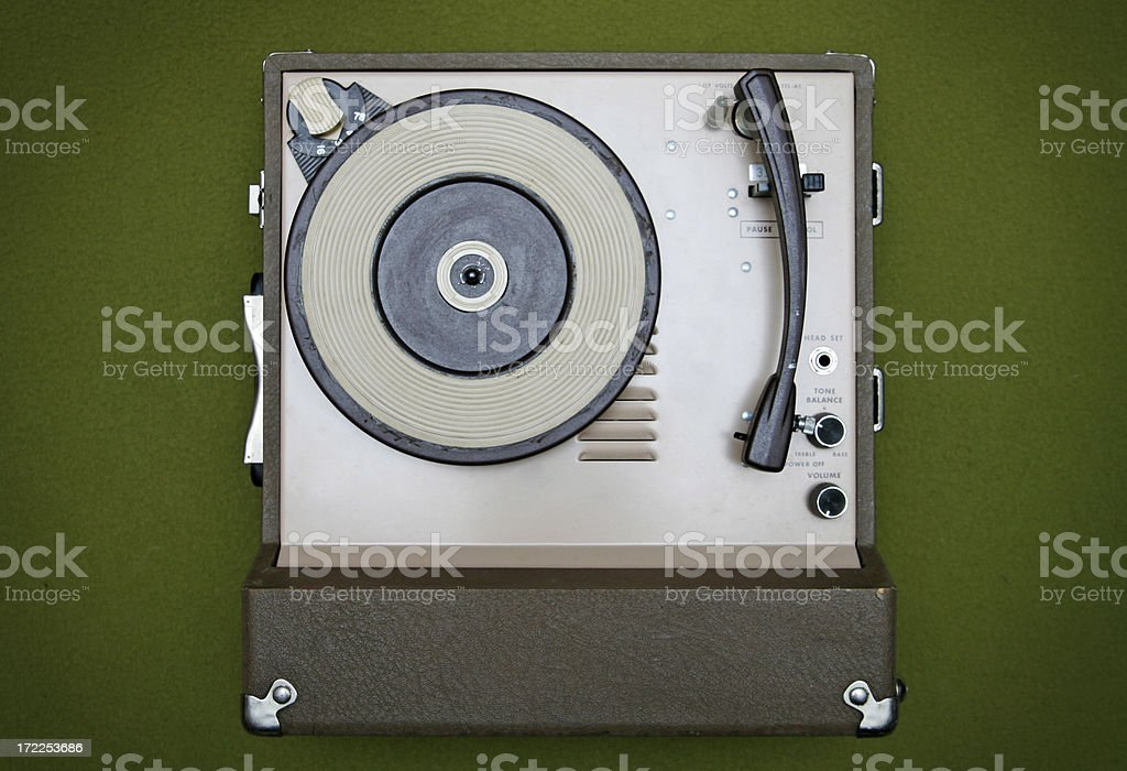 Vintage Classroom Record Player / Turntable stock photo