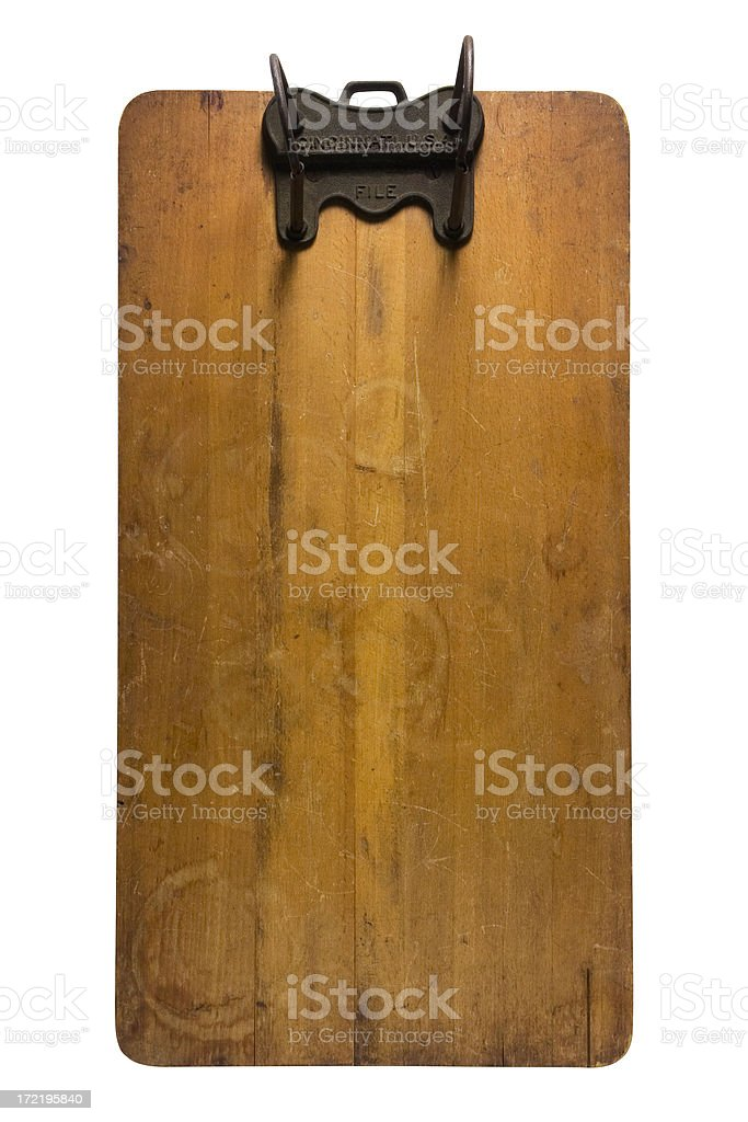 Vintage Clipboard II royalty-free stock photo
