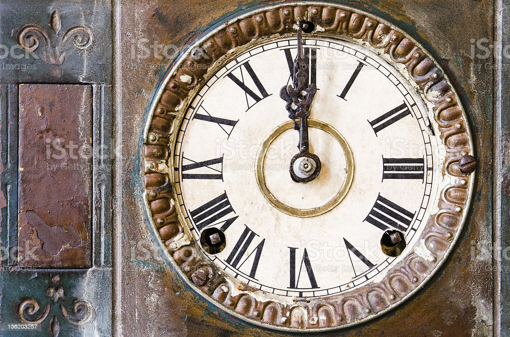 Vintage clock royalty-free stock photo