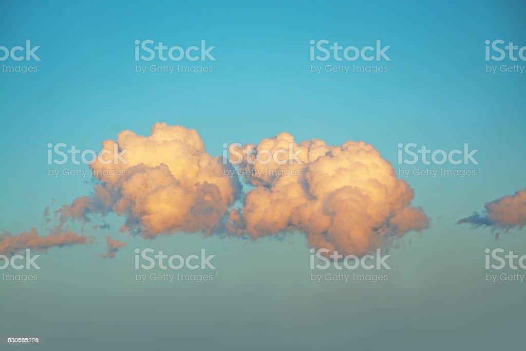 Vintage cloudscape Mallorca stock photo