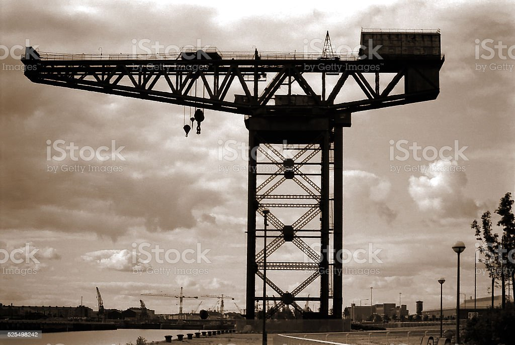 Vintage Clydeside Crane Glasgow Scotland UK stock photo