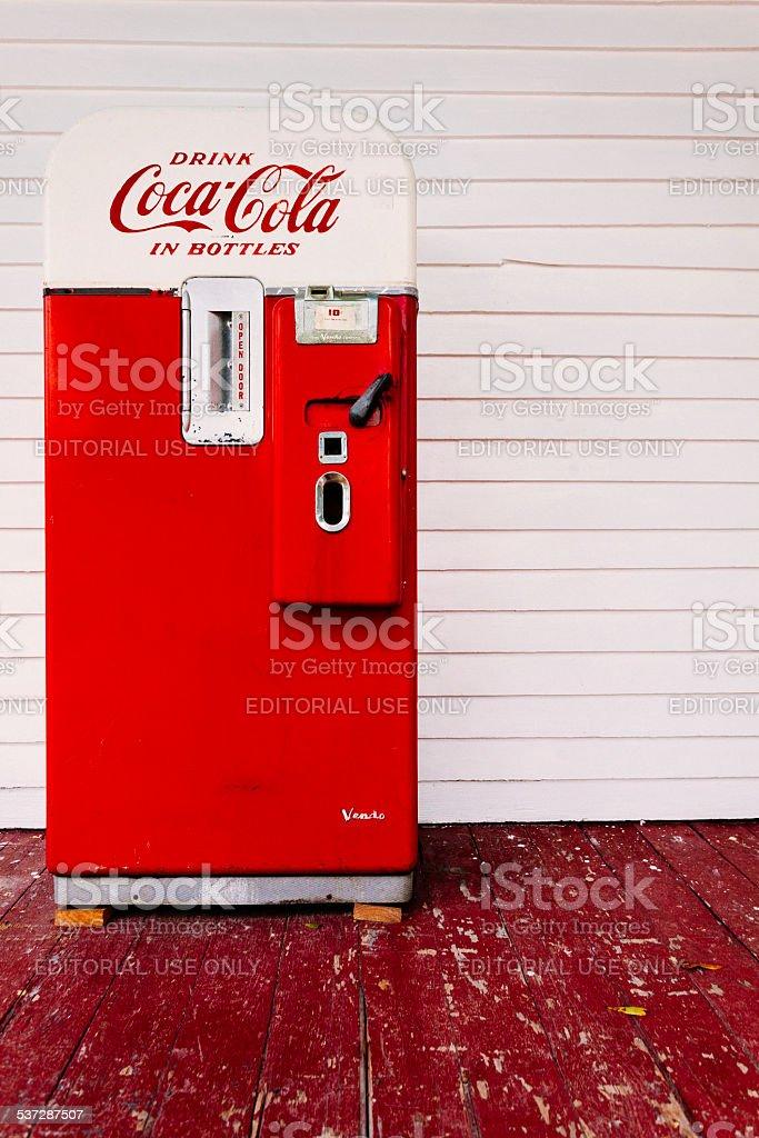 Vintage Coca Cola Vending Machine stock photo