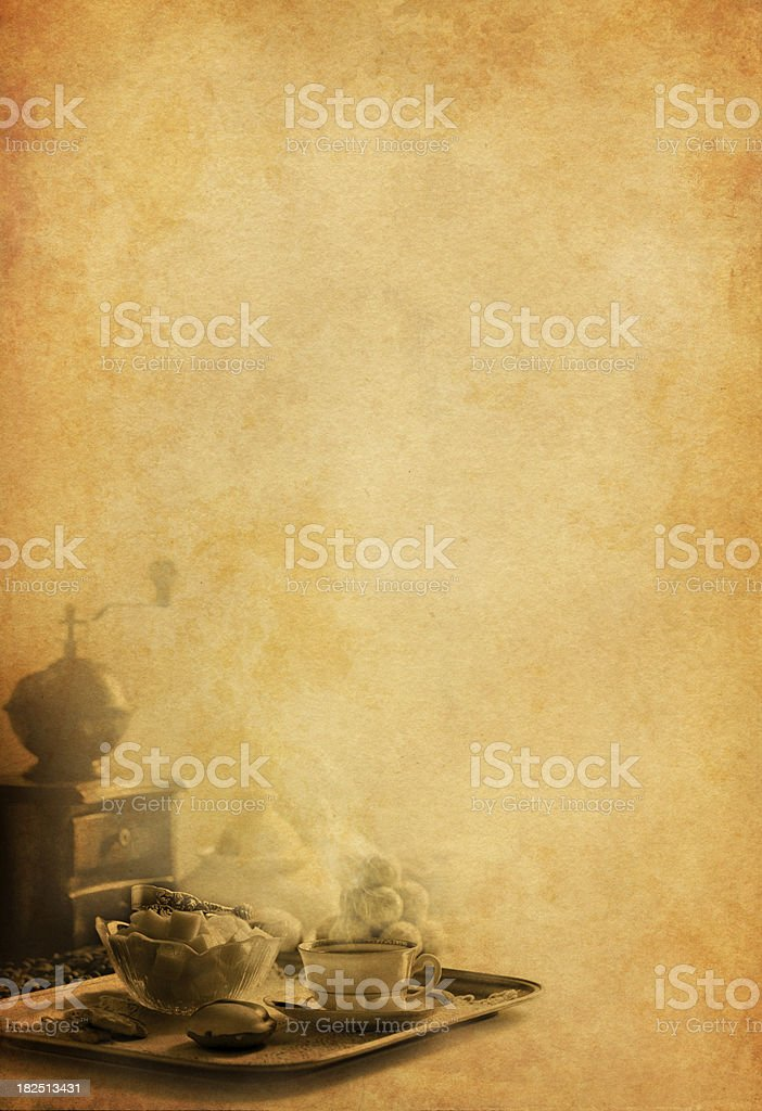 Vintage coffee background royalty-free stock photo