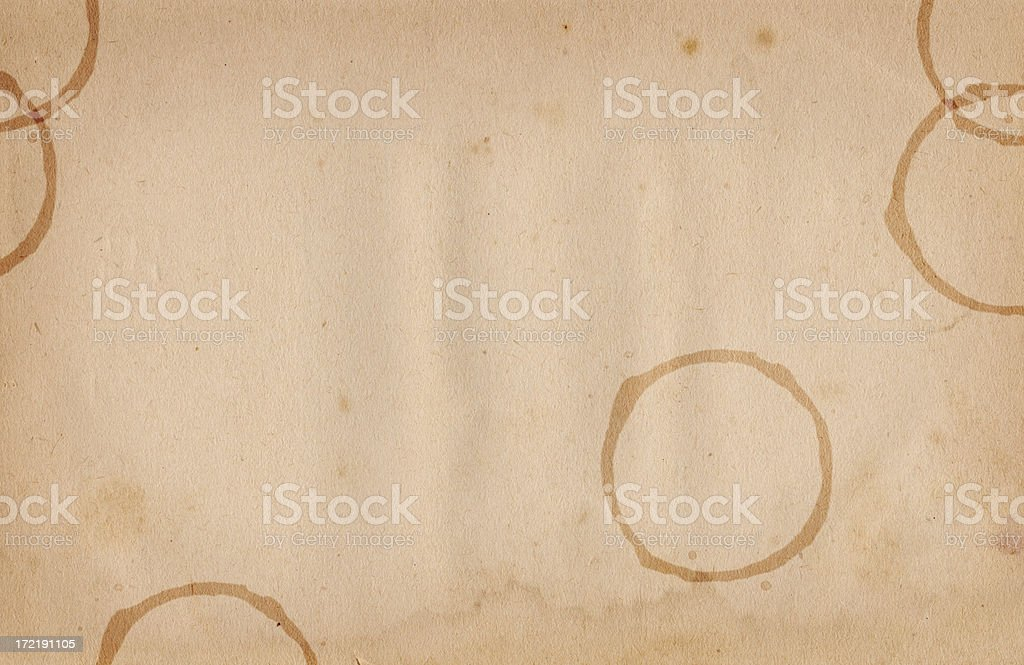 Vintage Coffee Stained Paper stock photo