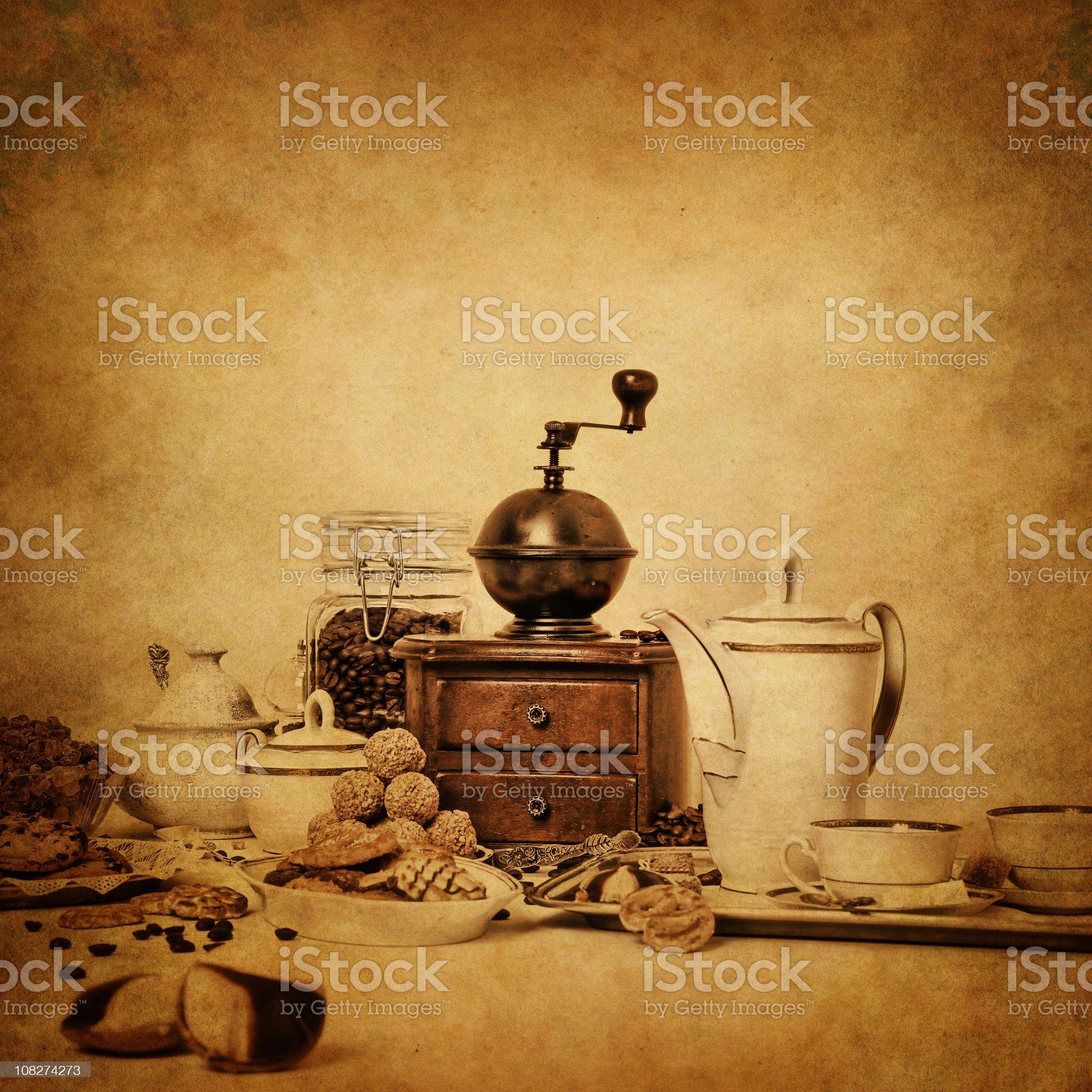 vintage coffee still life royalty-free stock photo
