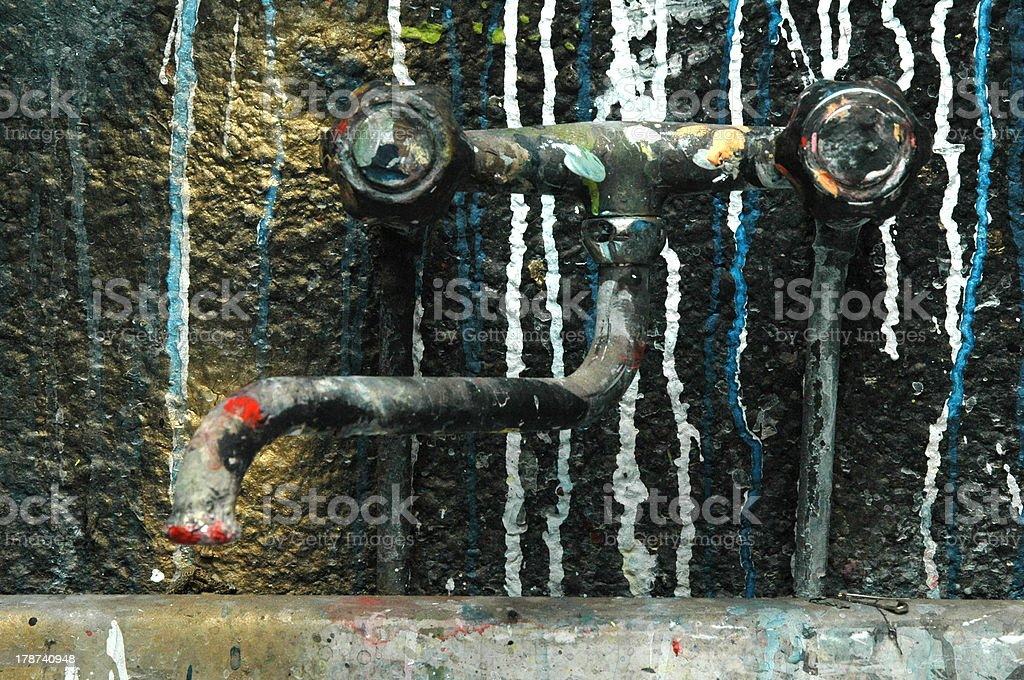 vintage colored faucet royalty-free stock photo