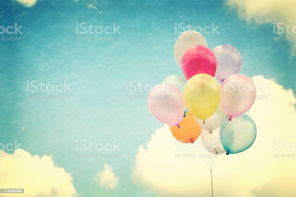 vintage colorful  balloon stock photo