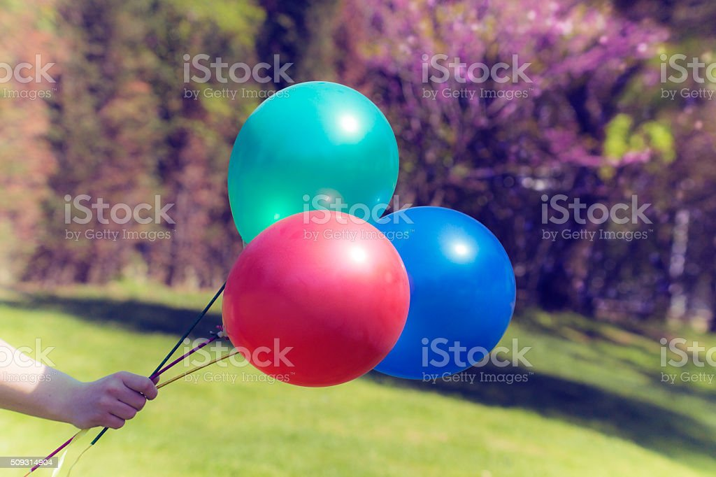 Vintage colorful balloons stock photo
