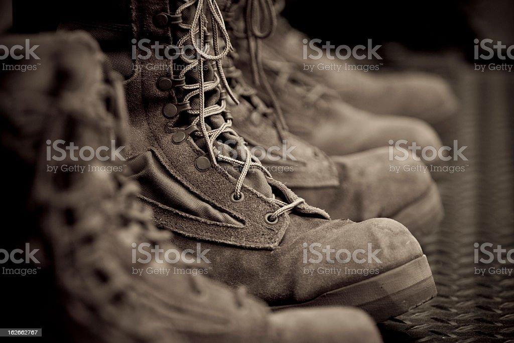 Vintage Combat Boots stock photo