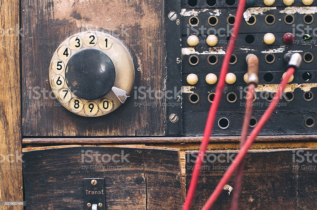 Vintage communication device stock photo