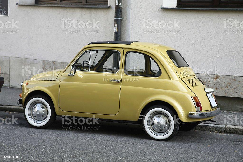 Vintage compact car stock photo