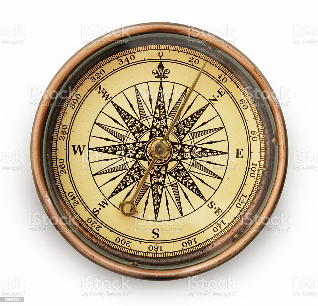 vintage compass royalty-free stock photo