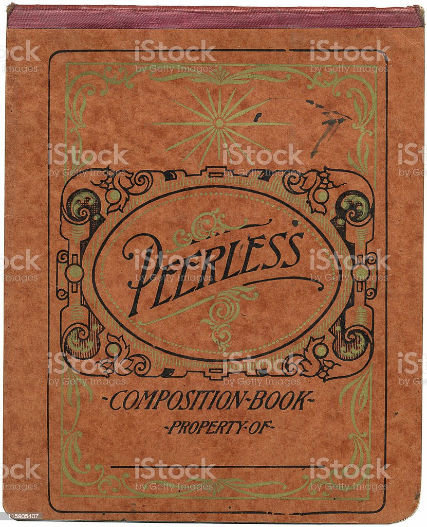 Vintage Composition Book royalty-free stock photo