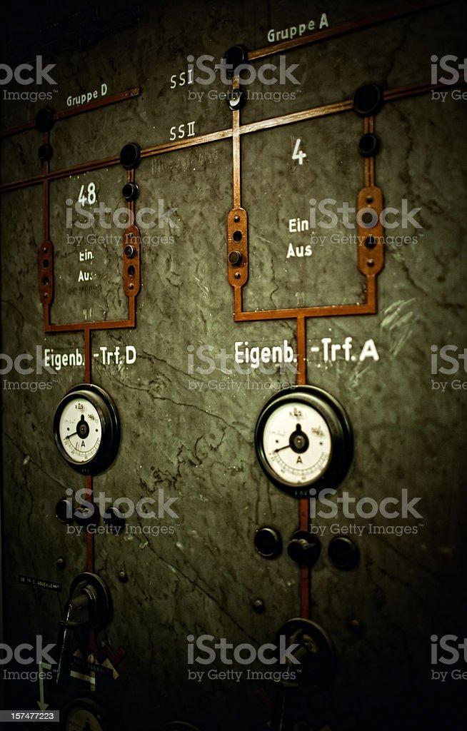 vintage control panel royalty-free stock photo