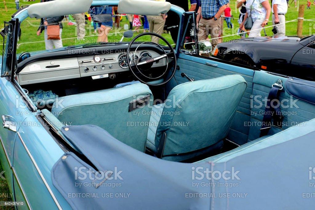 Vintage convertible automobile. stock photo