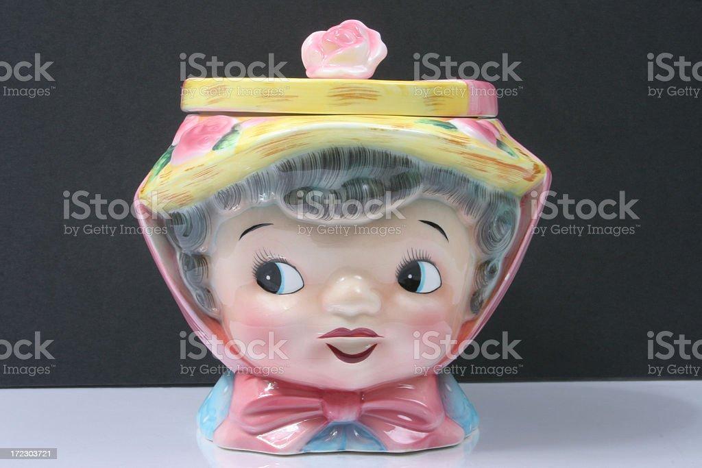 Vintage cookie jar royalty-free stock photo