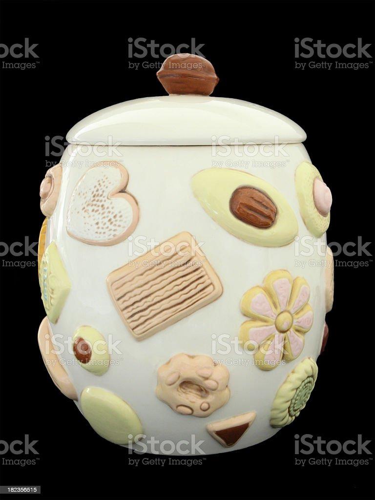 Vintage cookie jar. royalty-free stock photo