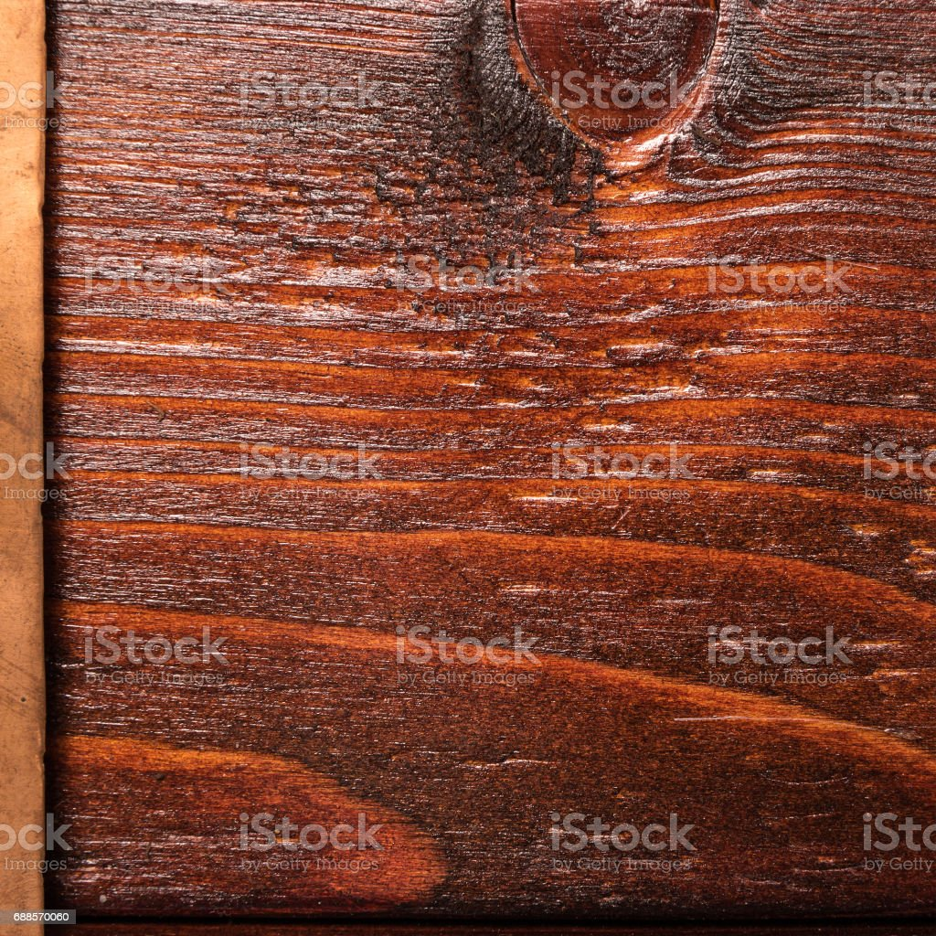 Vintage copper and wooden background stock photo