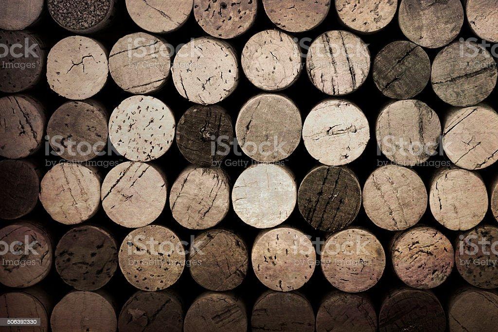 Vintage corks stock photo