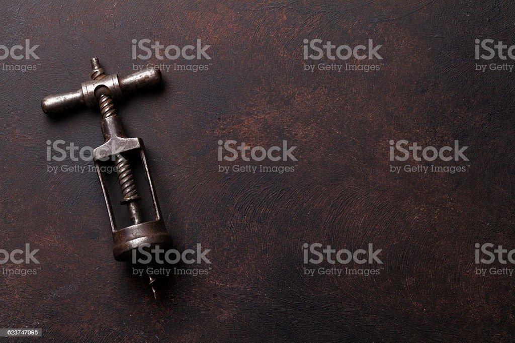 Vintage corkscrew stock photo