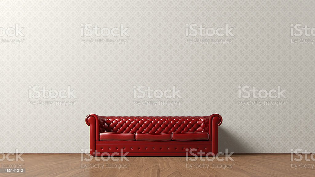 Vintage couch stock photo