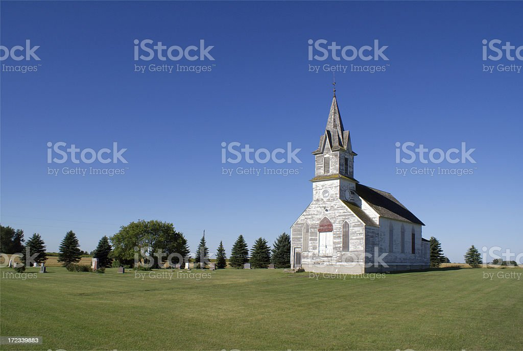 vintage country church royalty-free stock photo