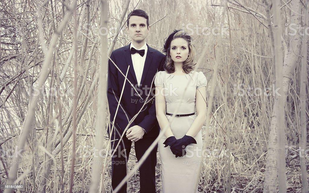 Vintage Couple stock photo