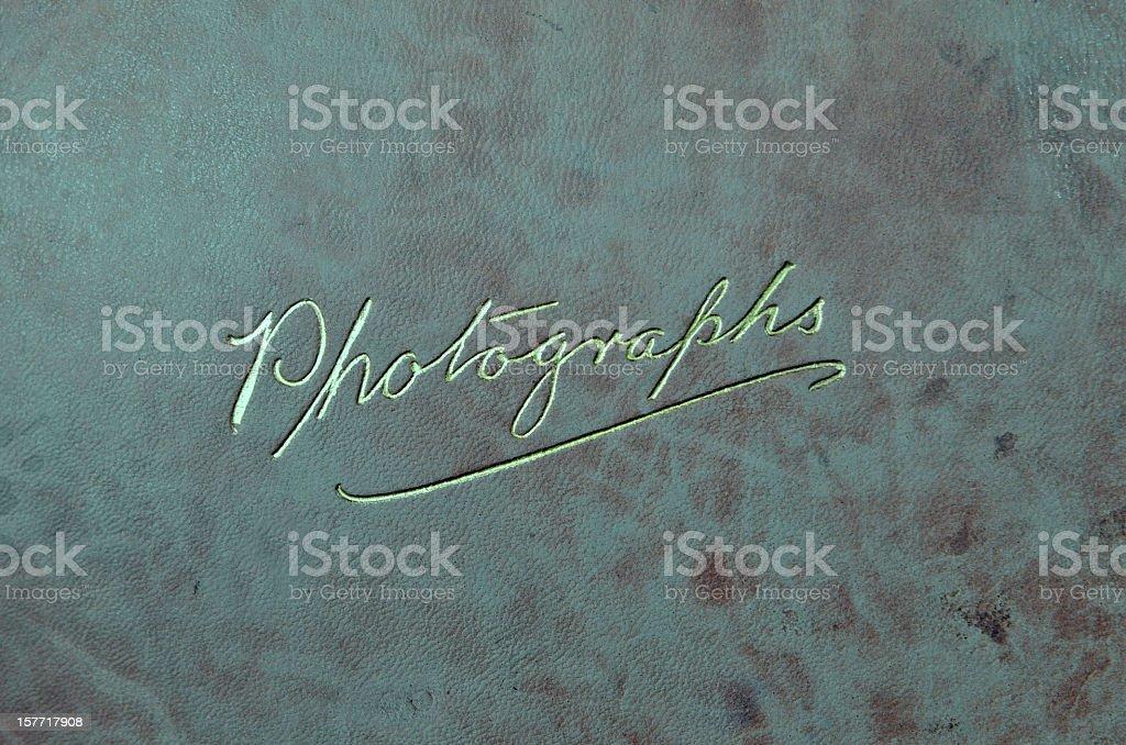 Vintage Cover Photograph Album stock photo