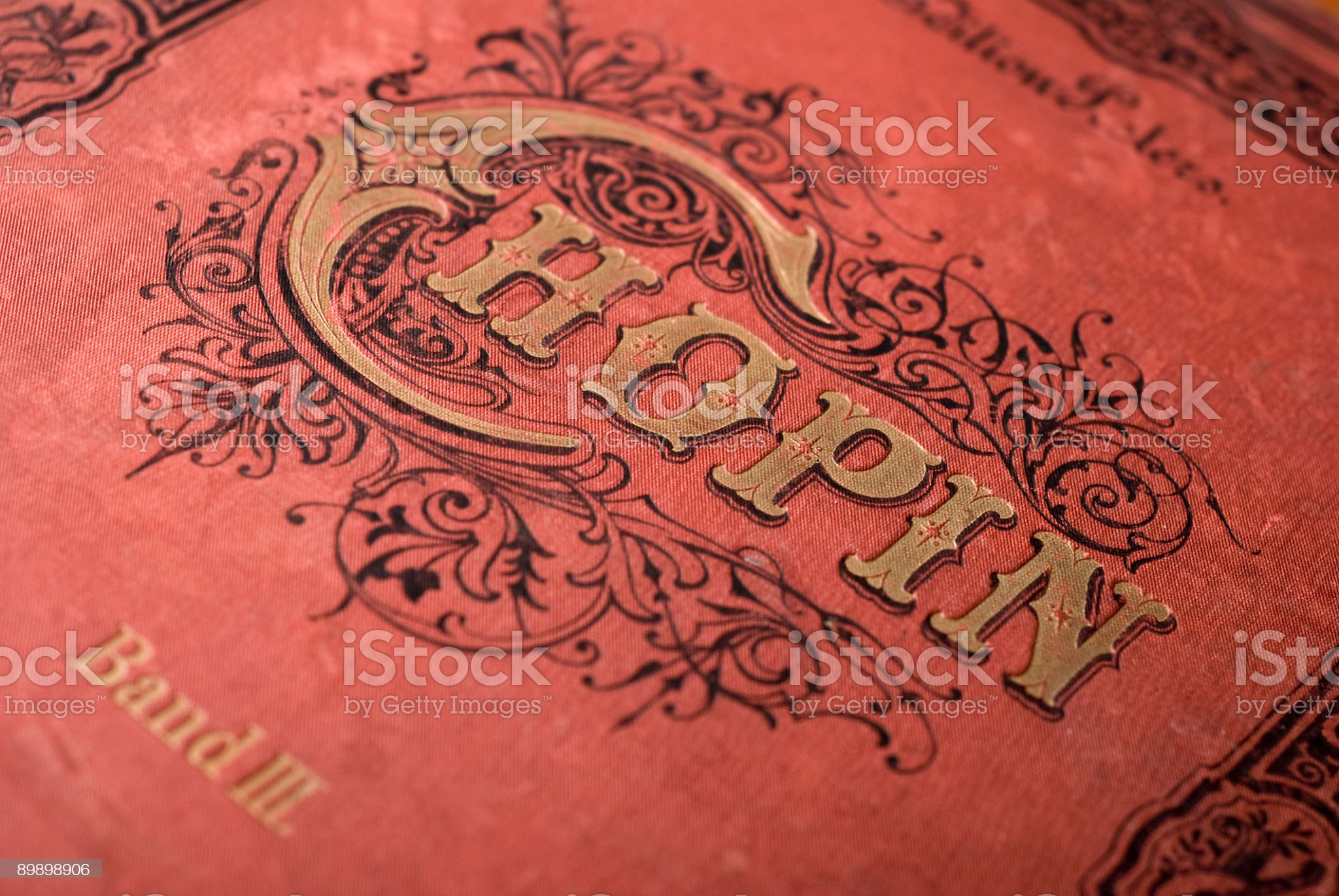 """Vintage cover """"Chopin"""" royalty-free stock photo"""
