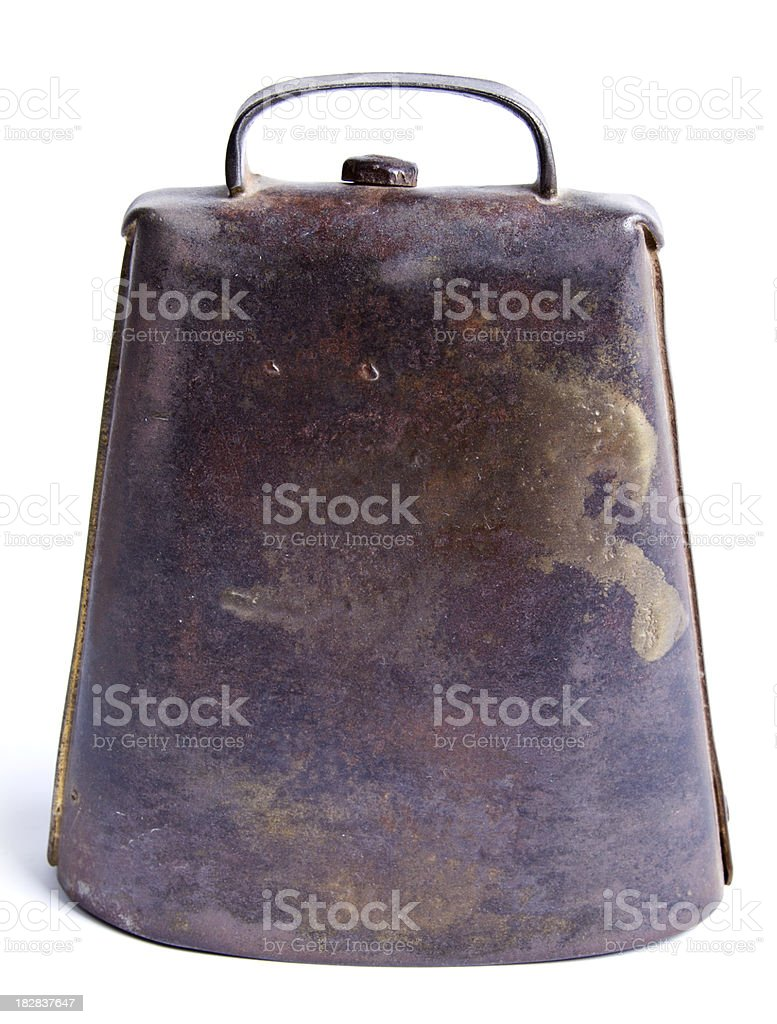 Vintage Cow Bell stock photo