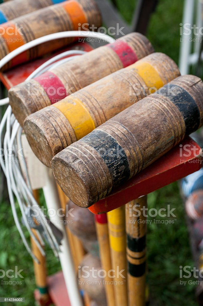 Vintage Croquet Set stock photo