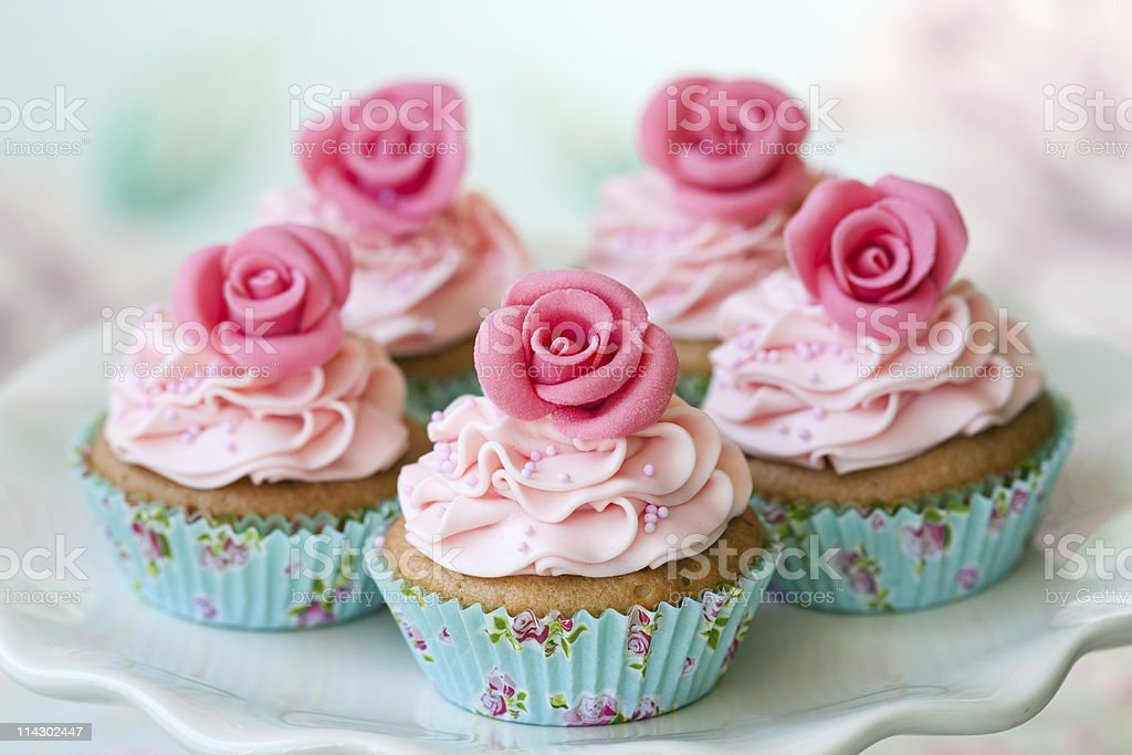 Vintage cupcakes royalty-free stock photo