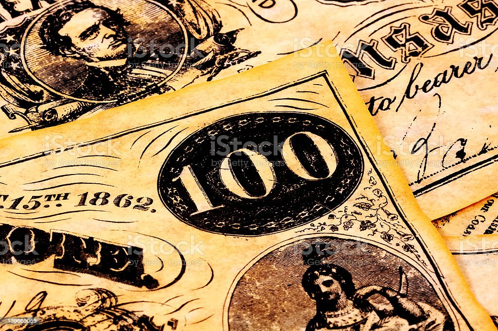 Vintage Currency stock photo