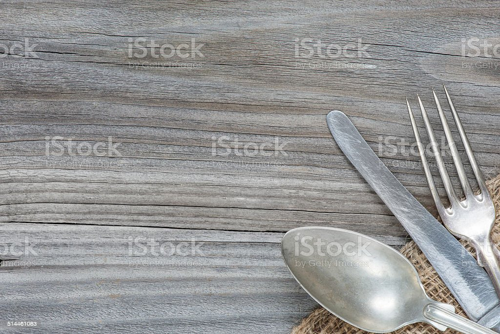 Vintage cutlery stock photo