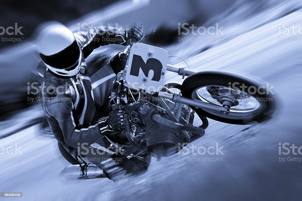 Vintage Cyclist royalty-free stock photo