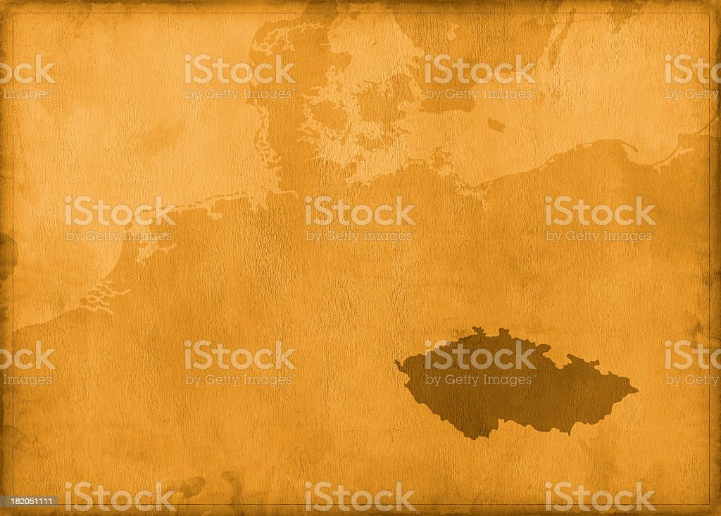 Vintage czechoslovakia map royalty-free stock photo