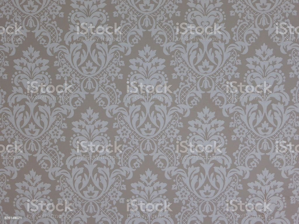 Vintage Damask floral wallpaper pattern stock photo