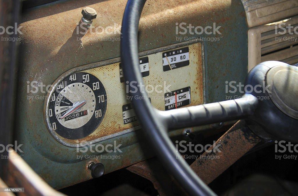 Vintage dashboard 2 royalty-free stock photo