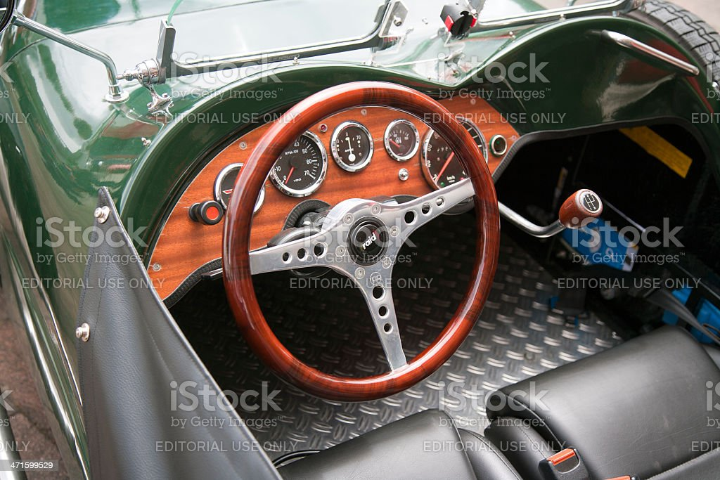 Vintage dashboard of british Morgan roadster royalty-free stock photo