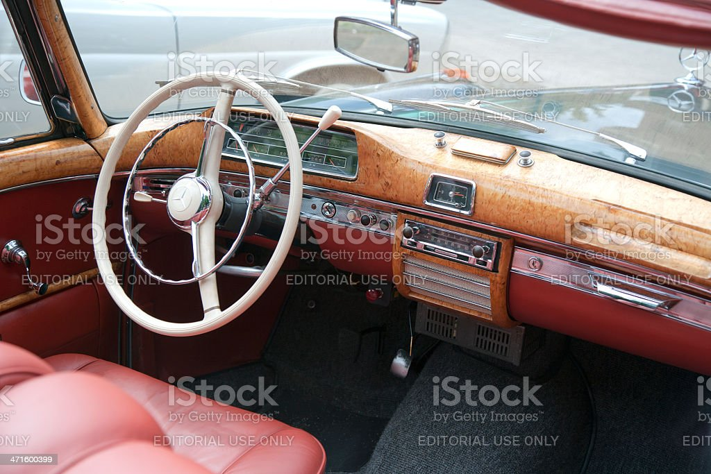 Vintage dashboard of german Mercedes Benz royalty-free stock photo
