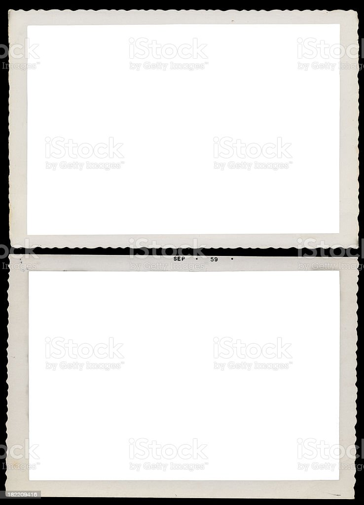 Vintage Deckle Edge Photos royalty-free stock photo