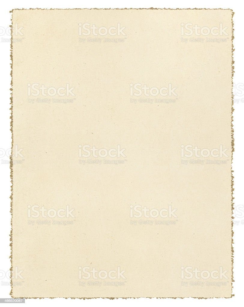 Vintage Deckled Paper stock photo