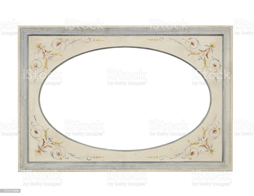 Vintage decorated frame - old style stock photo