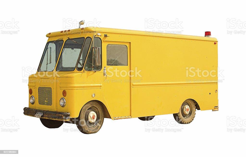 Vintage Delivery Van royalty-free stock photo